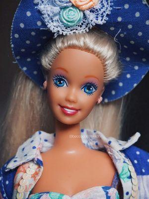 """1992 Teen Talk Barbie, blonde - blue hat """"Ich spreche mit dir"""""""