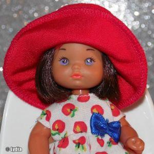 1993 Barbie Li'l Friends (brunette, stripes dress)