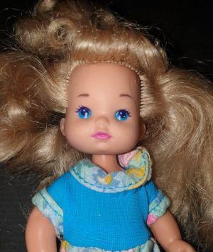 1993 Barbie Li'l Friends (blue dress)
