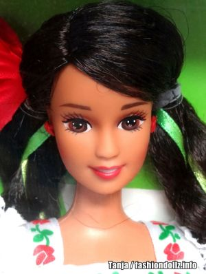 1996 Dolls of the World - Mexican Barbie 2nd Edition #14449