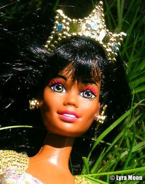 1996 Jewel Hair Mermaid / Märchen Haar Barbie AA #14587