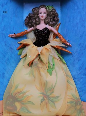1998 Artist Series - Sunflower Barbie - Vincent van Gogh #19366