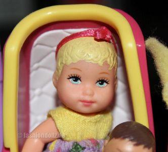 2002 Stroll'n Play / Buggy Spaß Barbie & Baby Krissy, blond #50964