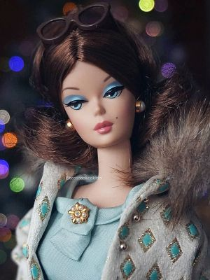 2002 Continental Holiday Barbie #55497