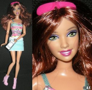 2010 Fashionistas Swappin Styles Sporty gift set + extra head