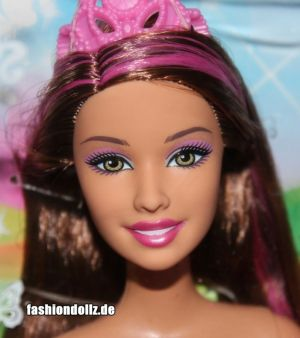 2013 Bath Play Fun - Fairytale Magic Mermaid brunette, pink X9454