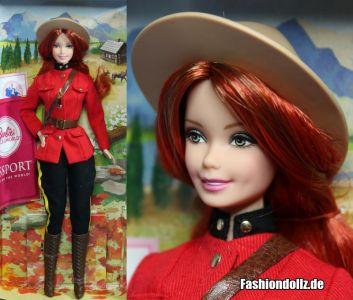 2013 Dolls of the World - Canada Barbie #X8422