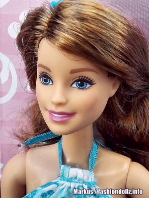 2016 Barbie Chic - Satin Dress blue, brunette