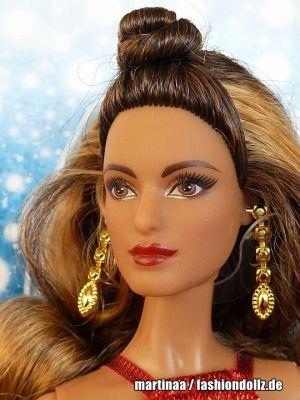 2017 Holiday Barbie, brunette DYX41