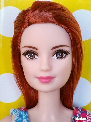 2017 Standard Fashion Barbie, Floral Dress, redhead