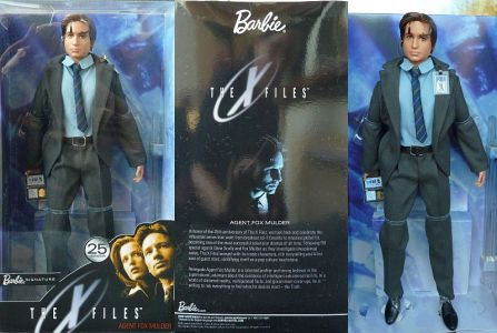 My long-haired Scully Barbie. They pulled them and started