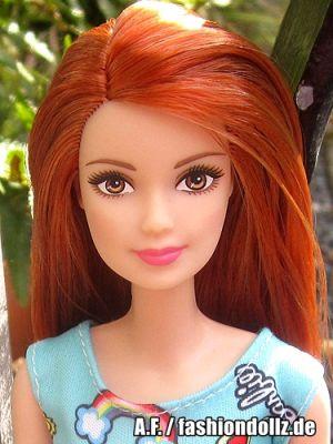2018 Fashion Barbie, blue / blau - redhead FJF18
