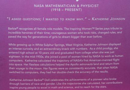 2018 Inspiring Women - Katherine Johnson  #FJH63