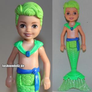 2020 Barbie Dreamtopia Chelsea Mermaids - Green Hair Boy #GJJ91