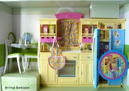 Barbie Decor Collection Kitchen Playset Mattel 2003 B6273 Bild #06