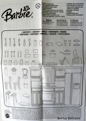 Barbie Decor Collection Kitchen Playset Mattel 2003 B6273 Bild #08