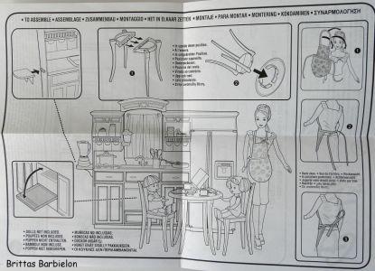 Barbie Decor Collection Kitchen Playset Mattel 2003 B6273 Bild #09