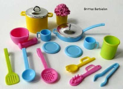 Barbie Decor Collection Kitchen Playset Mattel 2003 B6273 Bild #23