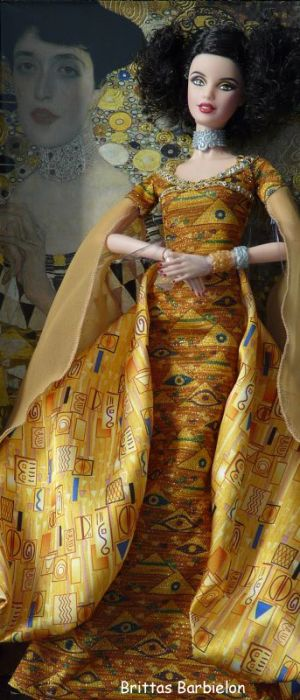 Gustav Klimt Barbie Bild #03