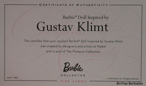 Gustav Klimt Barbie Bild #04