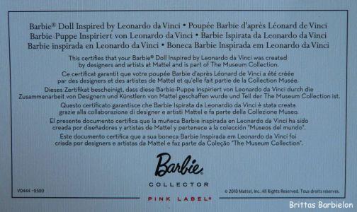 Leonardo da Vinci Barbie Bild #06