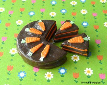 Osterdeko Miniaturen Torte aus Moosgummi und Farbe