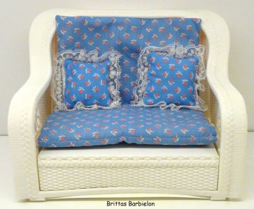 1984 Dream Furniture Collection - Fashion Living Room / Rattan Deluxe Set         #7404