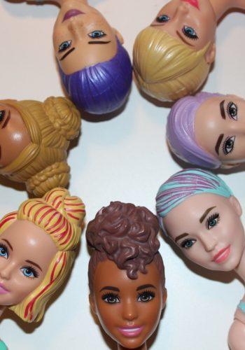 Barbie Color Reveal - modified Faces
