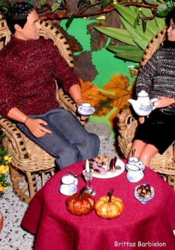 Besuch im Garten-Café