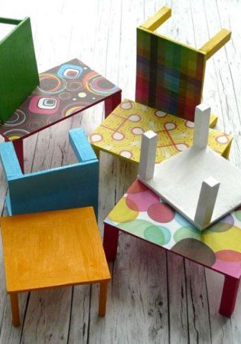 DIY Barbie Tische, Stühle & Regale